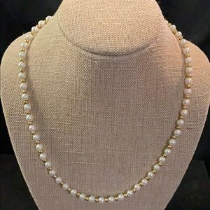 Pearl - Gold Pearl Bead Necklace